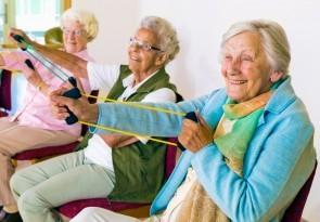 Fit im Alter, Stuhlgymnastik, Hockergymnastik